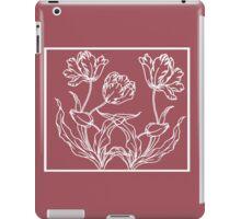 Marsala and White Tulips iPad Case/Skin