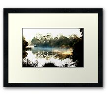 blue and yellow light Framed Print