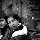 Children Smiling On The Street by Josh Wentz