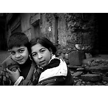 Children Smiling On The Street Photographic Print
