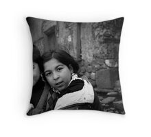 Children Smiling On The Street Throw Pillow