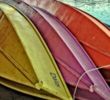 The Wooden Row Boats Sticker