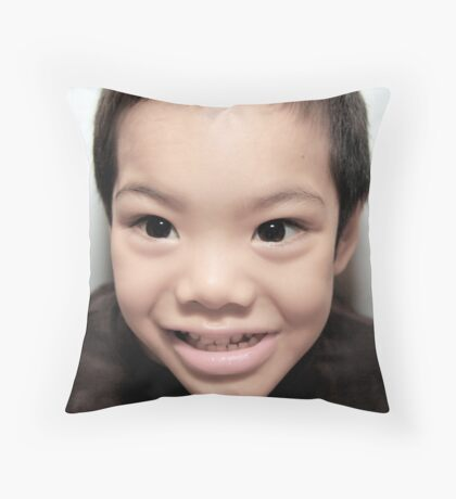 The Smile Like You Mean It. Throw Pillow