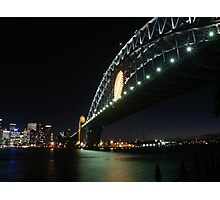 Rugby Union World Cup Harbour Bridge Photographic Print