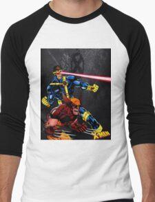 Spandex is cool!! Men's Baseball ¾ T-Shirt