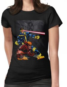 Spandex is cool!! Womens Fitted T-Shirt