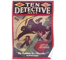 Ten Detective Aces - February 1944 Poster