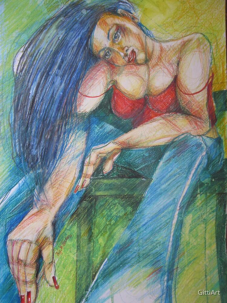 BLUE - JEANS by GittiArt