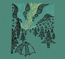 aurora borealis sketch by Hinterlund