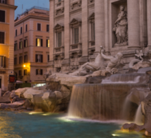 Rome's Fabulous Fountains - Trevi Fountain at Dawn Sticker