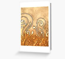 ABSTRACT NOUVEAU COLLECTION ~ STORM Greeting Card