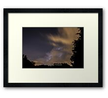 Lightning Within The Clouds Framed Print