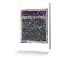 ABSTRACT TEXTURED ~ DIVIDED Greeting Card