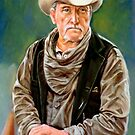 portrait of an old cowboy by Hidemi Tada