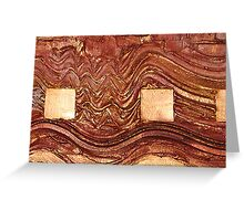 FRACTURE COLLECTION ~ COPPER Greeting Card
