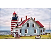West Quoddy Head Lighthouse Photographic Print
