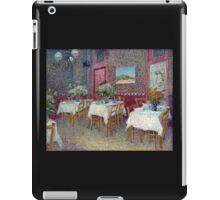 'Interior of a Restaurant' by Vincent Van Gogh (Reproduction) iPad Case/Skin