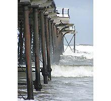 Below Saltburn Pier Photographic Print