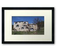 Gite in the country Framed Print