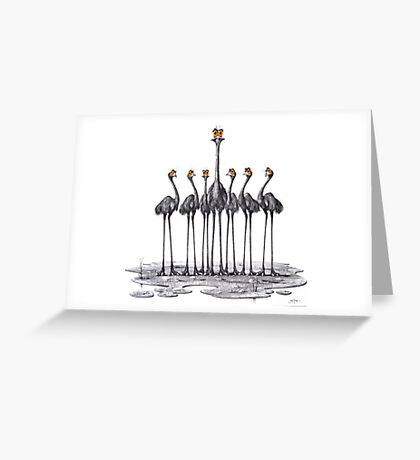 A Longneck and Six Stubbies (White) Greeting Card
