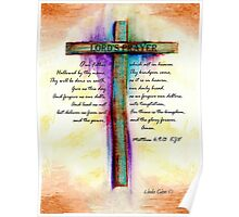 The Lord's Prayer Cross Poster