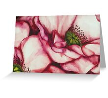 PINK PEONY ROSE ~ WATERCOLOUR ON CANVAS Greeting Card