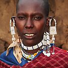 Exotic Ear-rings, Maasai or Masai Woman, East Africa  by Carole-Anne