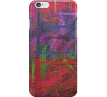 Abstract painted canvas iPhone Case/Skin