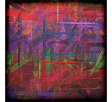Abstract painted canvas Photographic Print