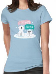 Polar Opposites Womens Fitted T-Shirt
