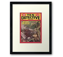 Ten Detective Aces - January 1945 Framed Print