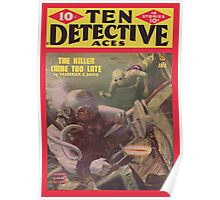 Ten Detective Aces - January 1945 Poster