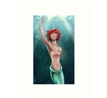 Genderbent Ariel Art Print