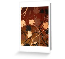BRONZE MAPLE ~ SILHOUETTE COLLECTION ~ OIL & ENAMEL Greeting Card