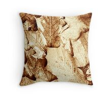 SEPIA COLLECTION ~ MAPLE LEAVES ~ POINTALIST  Throw Pillow