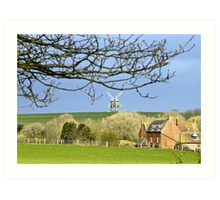 The mill from Chesterton. Art Print