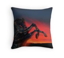 Dark Horse Throw Pillow