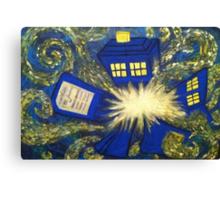 Exploding TARDIS Canvas Print