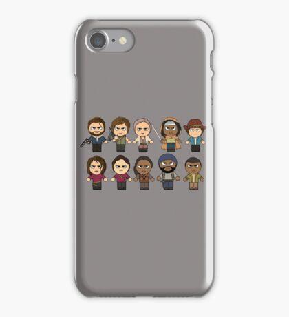 The Walking Dead - Main Characters Chibi - AMC Walking Dead iPhone Case/Skin
