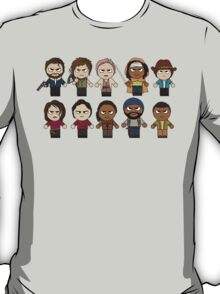 The Walking Dead - Main Characters Chibi - AMC Walking Dead T-Shirt