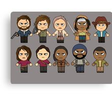 The Walking Dead - Main Characters Chibi - AMC Walking Dead Canvas Print
