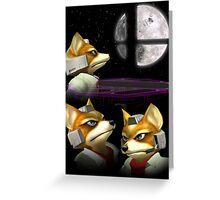 Three Fox Moon Greeting Card