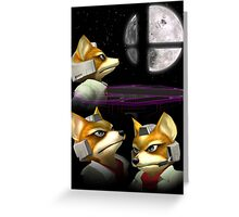 Three Fox Moon Greeting Card