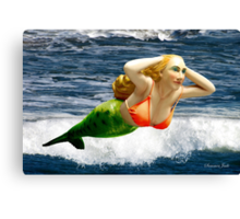 Mermaid ~ Feeling Free   Canvas Print