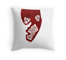 'Red Rose' Throw Pillow