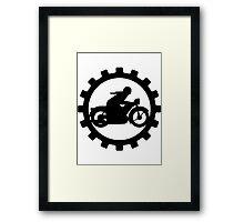 Vintage Motorcycle decal..... Framed Print