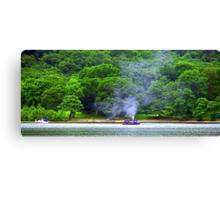 Steamboat on Loch Earn Canvas Print