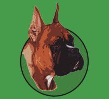 BOXER DOG PORTRAIT GREEN by SofiaYoushi