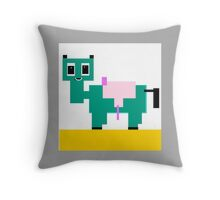 MY PET collectable, jade and yellow Throw Pillow