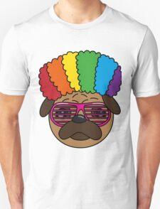 Archibald the Pug - Rainbow Afro T-Shirt